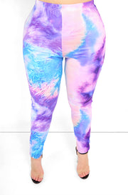 "Rebdolls ""Paint The Town"" Tie Dye High Waist Leggings"