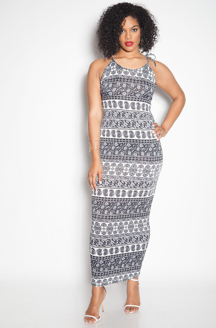 Black Bodycon Maxi Dress plus sizes