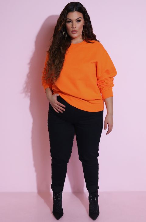 Neon Essential Sweatshirt Plus Sizes