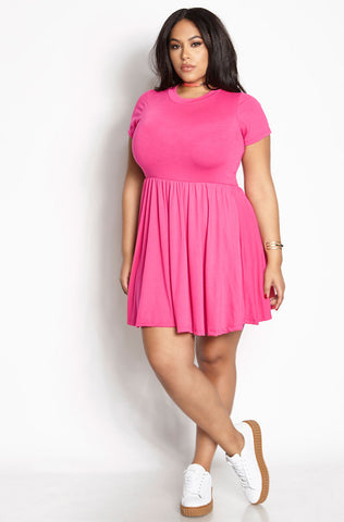 "Rebdolls ""Pep Rally"" Tank Mini Skater Dress With Pockets"