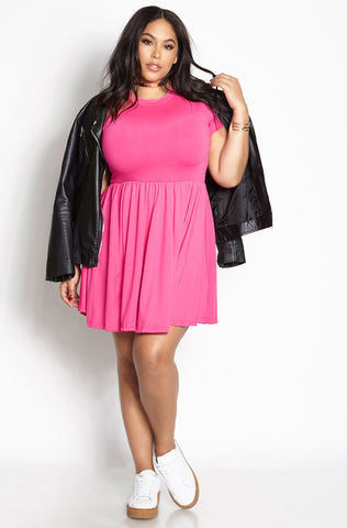 "Rebdolls ""Just For You"" Ruched Mini Dress"