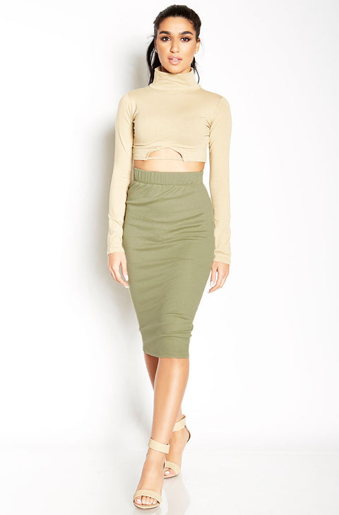 Nude Cut-Out Crop Top plus sizes