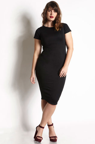 "Rebdolls ""Midnights"" Caged Midi Dress"