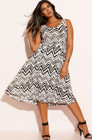 "Rebdolls ""Let's Go Back"" Paisley Print Midi Dress"