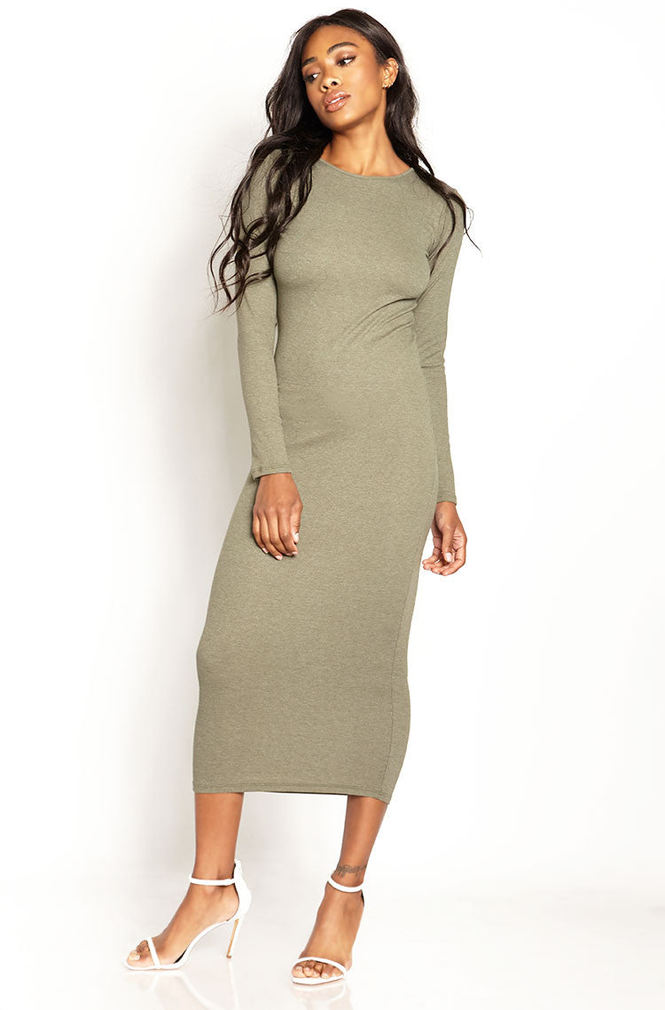 Green Ribbed Bodycon Maxi Dress plus sizes