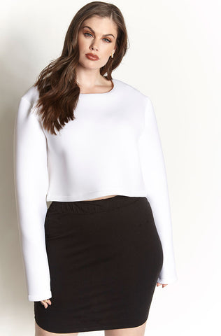 Rebdolls Essential Cotton Midi Skirt - White - FINAL SALE