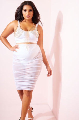 "Rebdolls ""Beauty Of Mine"" Tied Up Midi Dress"