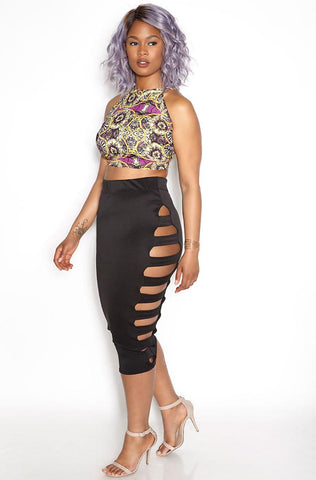 "Rebdolls ""Nightlife"" Mesh Maxi Skirt"