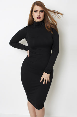 "Garnerstyle ""Sweet Whisper"" Turtleneck Skater Dress - Final Sale Clearance"