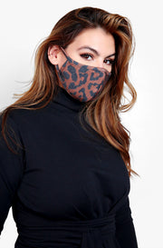 Brown Cheetah Fashion Face Mask