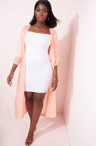 "Rebdolls ""Closer Look"" Chevron Cold Shoulder Jacket"
