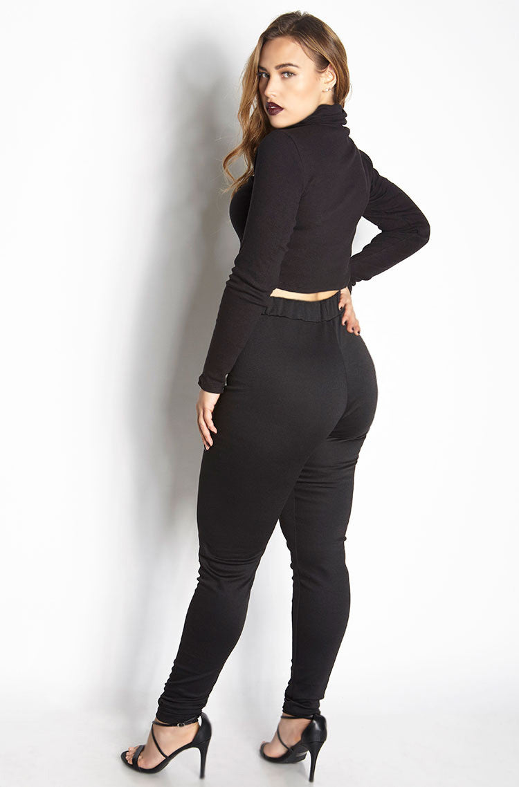 Black Ponte Pants Plus Sizes