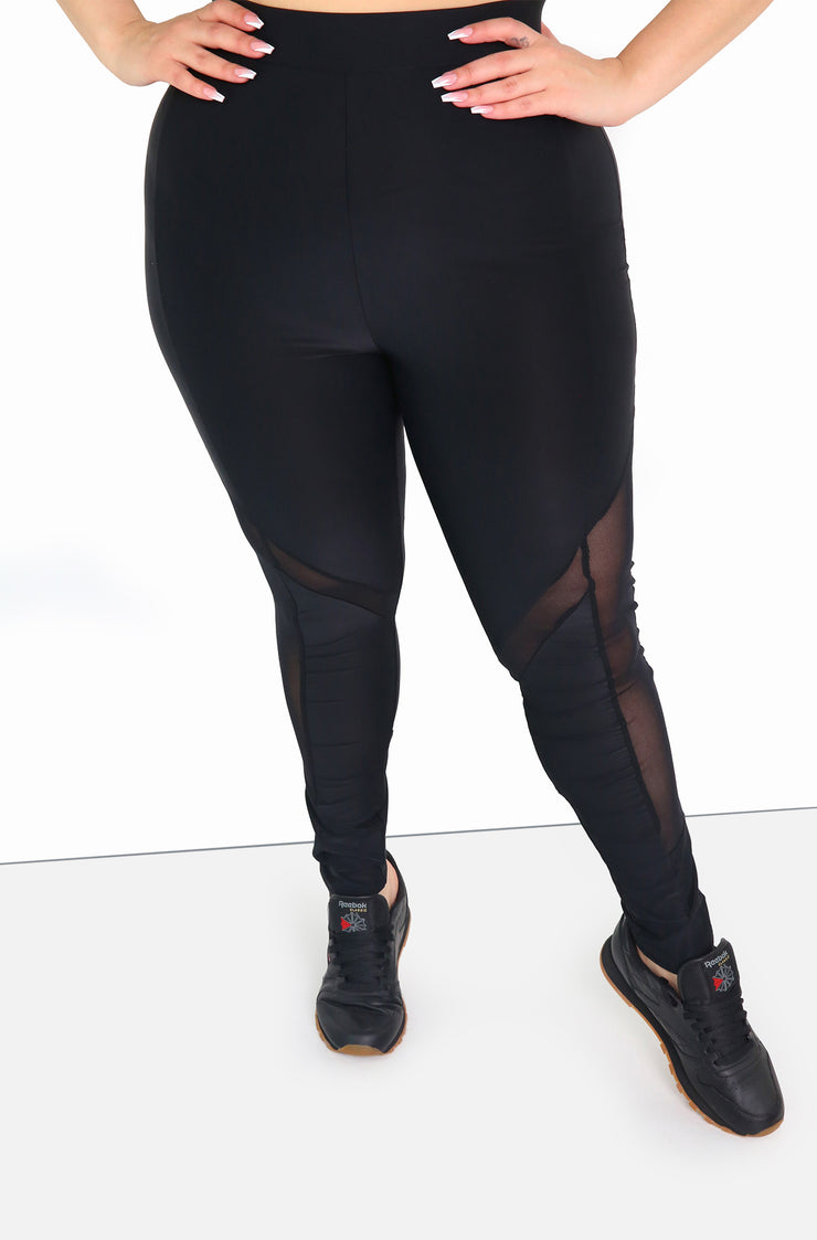 Black High Waist Leggings Plus Size