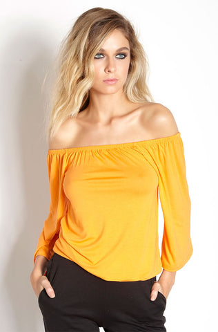 "Rebdolls ""Back At It"" 3/4 Sleeve Ribbed Long Line Top"