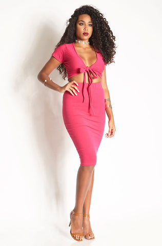 "Grisel. ""Fashionably Late"" Cross Over Two Piece Set"