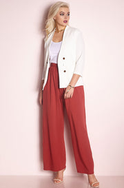 White Structured Blazer plus sizes