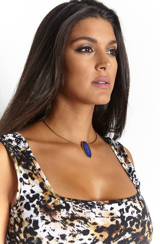 "Rebdolls ""Blue Star"" Open Collar Necklace - FINAL SALE CLEARANCE"