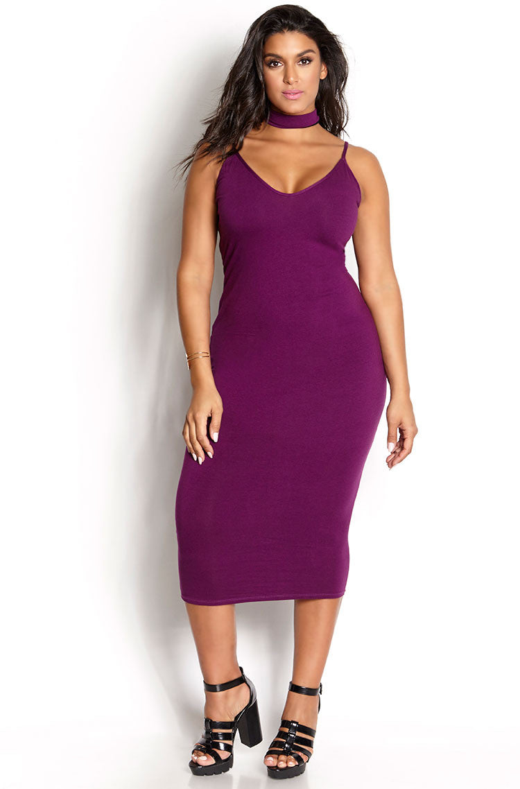 Purple Dress & Sleeveless Duster set plus sizes