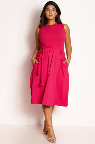 "Rebdolls ""Where To?"" Open Back Relaxed Fit Midi Dress"