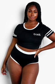 Black Matching Intimates Set Plus Sizes