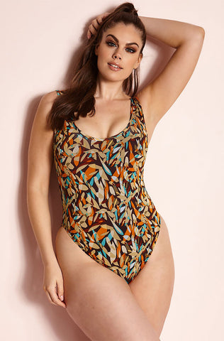"Rebdolls ""Paint Splash"" One Piece Swimsuit"