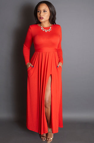 "Rebdolls ""The Get Up"" Squared Neckline Midi Dress - FINAL SALE CLEARANCE"