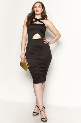 Rebdolls Essential Strapless Midi Dress - Black