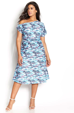 "Rebdolls ""The Boy is Mine"" Strappy V-Neck Midi Dress"