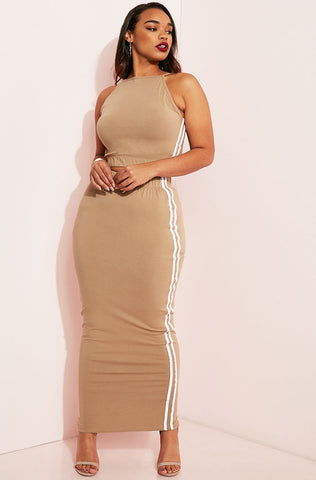"Rebdolls ""Come Closer"" Flutter Sleeve Maxi Dress"