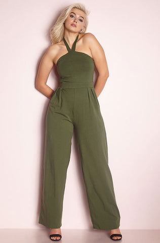 "Rebdolls ""You Can't Own Me"" Cropped Leg Jumpsuit - Gray"