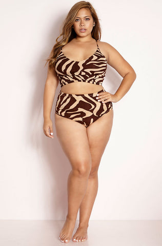 "Rebdolls ""Get Right"" Ruffled Two Piece Swimsuit"