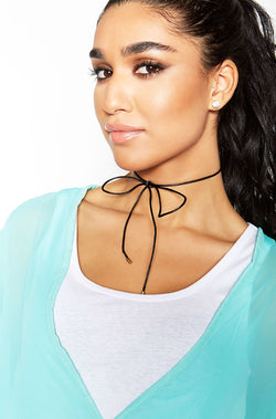 Black Tie Up Choker plus sizes