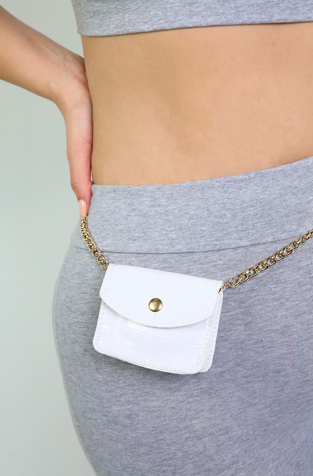 White Mini Waist Bag