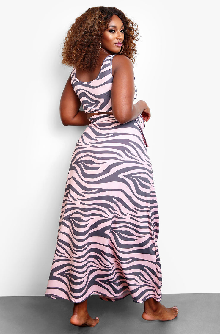 Lilac Wrap Maxi Skirt Cover Up