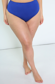 Royal Blue High Waisted Swimsuit Bottom Plus Sizes