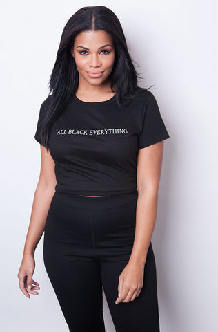 "Rebdolls ""Mind Over Matter"" Crew Neck Crop Top"