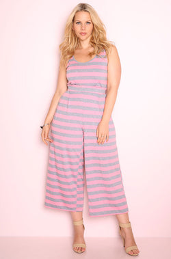 Pink Tank Jumpsuit plus sizes