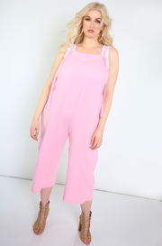 Pink Oversized Utility Style Jumper Plus Sizes