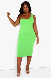 "Rebdolls ""All Eyes On Me"" One Shoulder Midi Dress"