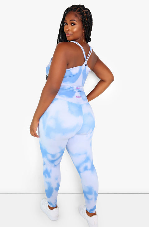 "Rebdolls ""All Yours"" Tie Dye High Neck Sports Bra"