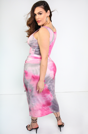"Rebdolls ""Almost There"" Tie Dye Maxi Skirt"