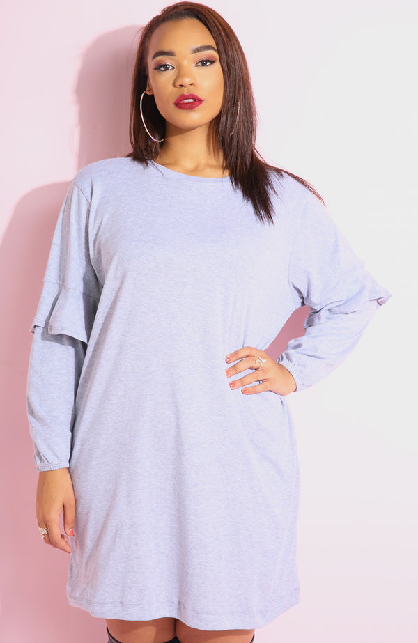 "Rebdolls ""Always Down"" Ruffle Sleeve T-Shirt Mini Dress"