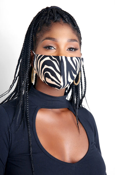 Brown Tiger Print Face Mask