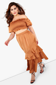 "Rebdolls ""An Adventure"" Ruffle Maxi Skirt"
