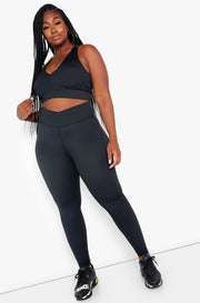 "Rebdolls ""Armor"" Asymmetrical Waist Band Leggings"