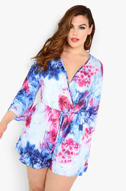 Blue Tie Dye Jumper Plus Sizes