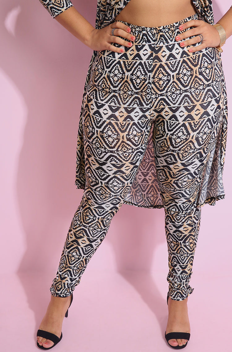 "Rebdolls ""Back To Back"" Printed Leggings"