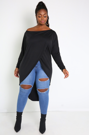 "Rebdolls ""Be Alright"" Crossover Oversized Top"