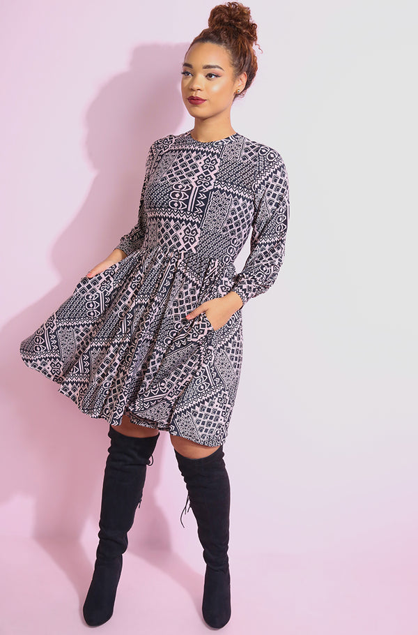 "Rebdolls ""Beautiful girl"" Skater Mini Dress With Pockets"
