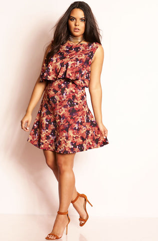 "Rebdolls ""Forever Yours"" Sweetheart Ponte Midi Skater Dress"